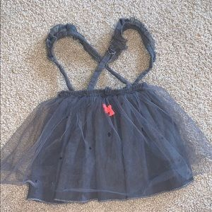 Tulle skirt with suspenders!